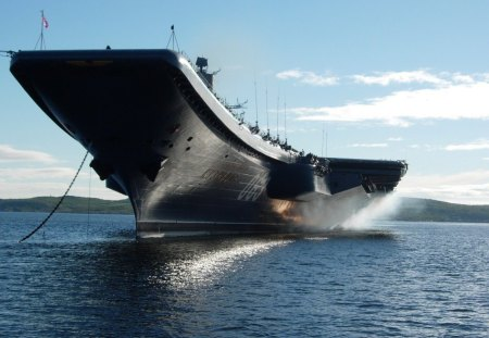 aircraft carriers, military in the ocean - military, aircraft, carriers, ocean