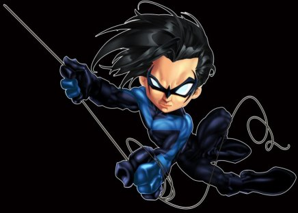 Animated Nightwing - dick, league, grayson, robin, asylum, comics, batman, tim, dc, justice, drake, city, universe, arkham