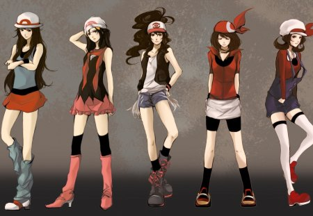 Pokemon Girls - pokemon girls, original, dawn, anime girls, beautiful, pokemon, anime, may, cute girls