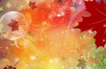 Fall Abstract Bubble Leaves