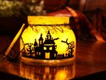 Spooky Haunted House Lantern♥