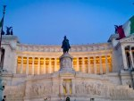Monument Vittorio Emanuele II on the the Piazza Venezia in Rome, Italy