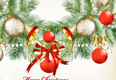 Merry Christmas - red, pretty, christmas tree, holidays, christmas balls, beautiful, magic, bell, bow, red ball, xmas, ball, magic christmas, beauty, christmas bell, christmas bells, lovely, holiday, christmas, ribbon, christmas ball, red balls, merry christmas, balls, bells