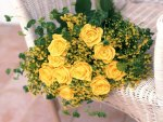 *** Bouquet of yellow roses ***