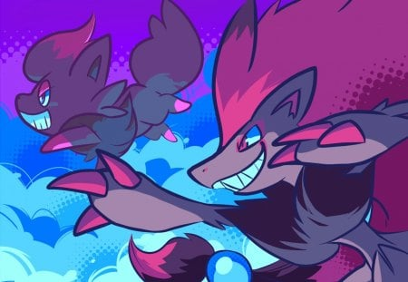 Zorua Zoroark Pokemon Anime Background Wallpapers On Desktop