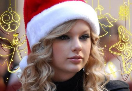 Taylor Swift Christmas.Taylor Swift Christmas Music Entertainment Background