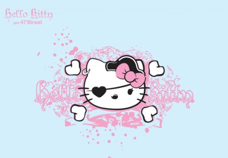 Hello Pirate - hello kitty, kitty, bow, hearts, pink, patch