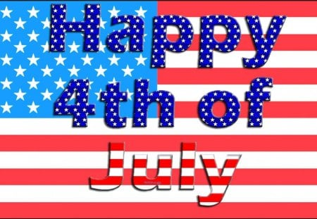 Happy 4th! - flag, happy fourth of july, america, stripes, celebrations, stars, 4th of july, holidays, happy 4th of july, forth of july