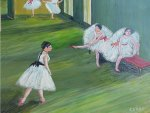 Ballet lesson, oil painting by Saad Antoine kilo