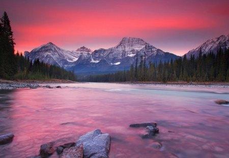 Rocky Mountain Sunset Alberta Canada