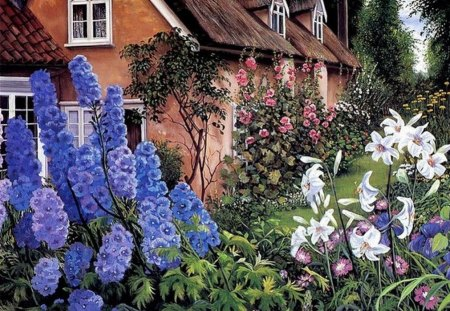 LOVELY COTTAGE - garden, flowers, house, cottage