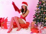 *** Christmas girl and gifts ***