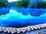 'Evening Blue Lake'