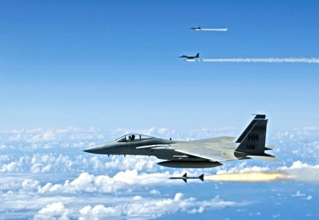 F 15 Missile Launch - f15, f15 eagle, f 15, missile launch, f 15 missile launch, eagle