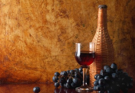 *** Wino i winogrona *** - grapes, drink, food, wine