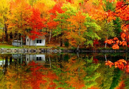 autumn cabin wallpaper desktop - photo #36