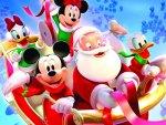 Mickey Mouse and Santa