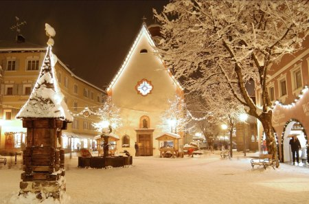 Val Gardena Christmas - christmas, snow, cityscapes, nature, lights, winter