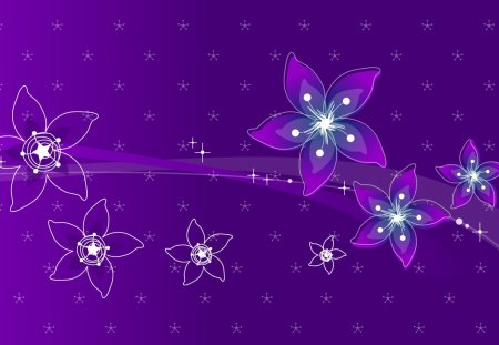Purple flowers 3d and cg abstract background wallpapers on purple flowers thecheapjerseys Images