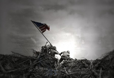 Soldiers For Freedom - freedom fighters, soldiers for freedom, iwo jima, world war 2