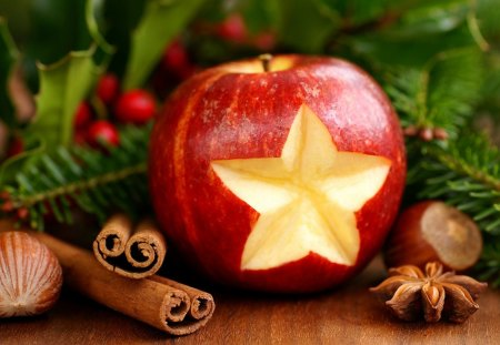 Christmas Scent - apple, photography, christmas, scent, cinammon, star