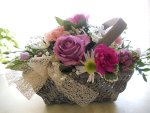Pretty floral basket♥