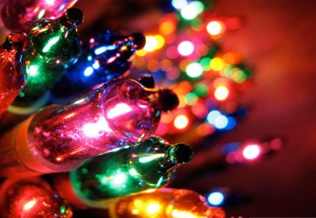 Colorful Christmas Lights Background.Colorful Christmas Lights Other Entertainment Background