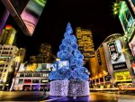 Colorful Downtown Christmas Tree