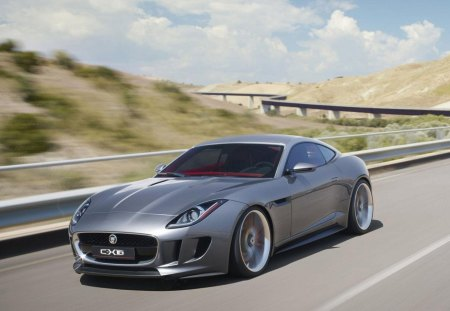 Jaguar C X16 Hybrid Luxury Sports Car Jaguar Cars Background