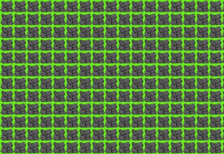 8Bit Rock Pattern Green Background - pattern, rocks, rock, pebbles, reflamed, woahh, video game, tumblr, green, 8 bit, texture, neon green, neon, circleinthesquare, patternbase