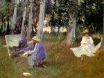 John Singer Sargent - Claude Monet Painting