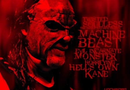 Evil Dwells in the Beast, The Monster Kane - red, wwf, kane, machine, wwe, demon, big, monster, ecw, devil, favorite