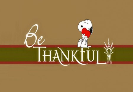 Happy Thanksgiving - snoopy, dogs, animals, peanuts, thanksgiving, charlie brown, fall