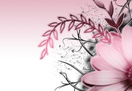 Pink grey 3d and cg abstract background wallpapers on desktop pink grey flowers pink flower seasons floral mightylinksfo