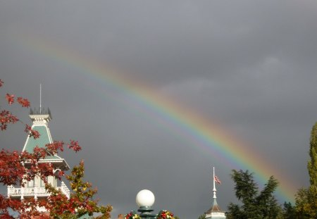 over the rainbow - rainbow, disneyland paris, paris, nature