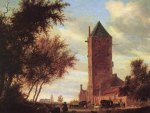 Salomon van Ruysdael - Tower at the Road