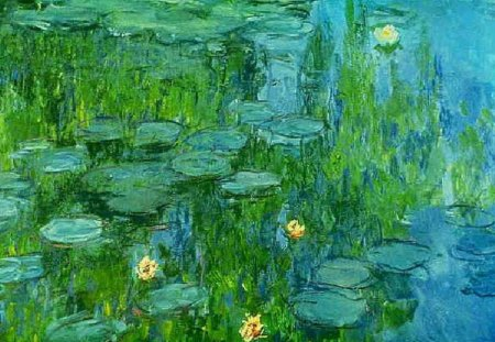 Claude Monet Water Lilies Flowers Nature Background