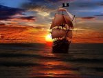 Pirates Ship On the Ocean