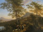 Willem de Heusch - Italian Landscape with Peasants