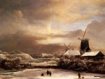 Jacob Issaksz van Ruisdael - Winter Landscape