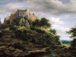 Jacob Isaacksz van Ruisdael - View of Bentheim Castle from the North-WestJacob Isaacksz van Ruisdael - View of Bentheim Castle from the North-West