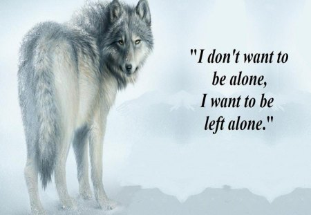 Left Alone - fantasy, wolf, abstract, animal