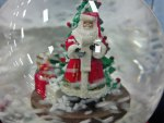 Swirling Santa Snow Globe