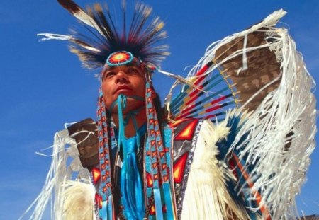AMERICAN NATIVE MAN - american native, native people, regalia, men