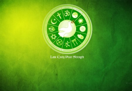 love unity peace strength wallpaper - christian, buddhist, christ, jesus, unity, wallpaper, love, hindu, jew, muslim, christianity, humanity, hinduism, religion, peace, islam, sikh, buddhism, judaism, earth