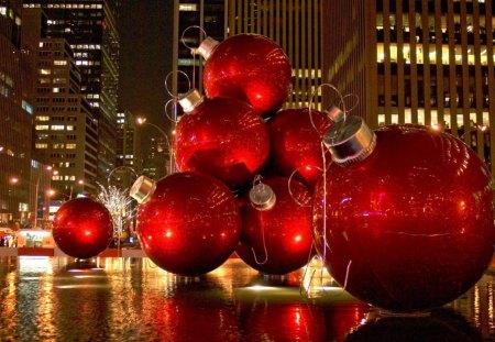 christmas decoration new york city street