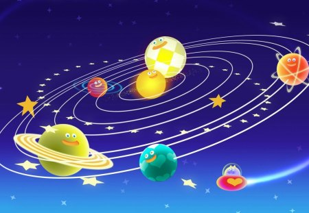 Cute Solar System 3d And Cg Abstract Background Wallpapers On