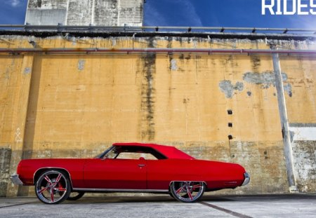 Cherry Bomb - gm, red, custom wheels, bowtie