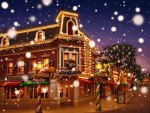 Christmas Town with Snowy Main Street