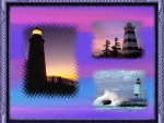 trio of lighthouses collage